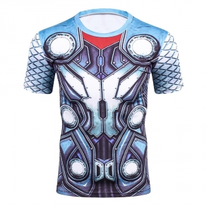 Thor 3D Printed T Shirts Men Compression Shirt New Cosplay Short Sleeve Male Crossfit Fitness Bodybuilding Man Base Tops Tee