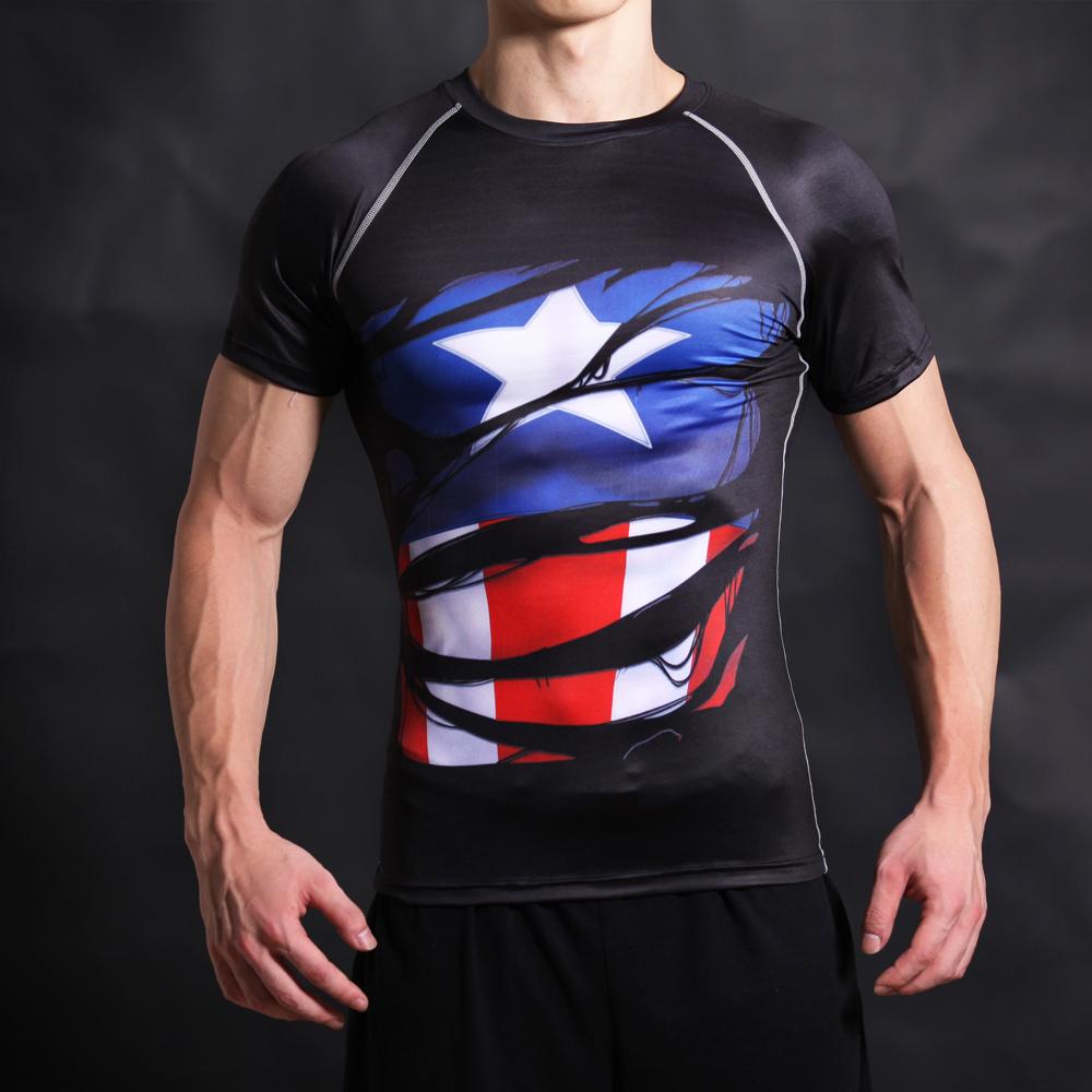 Captain America Civil War Shirt Tee 3D Printed T-shirts Men Fitness G ym Clothing Male Tops Funny T Shirt Superman Costume
