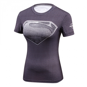 2018 Star Wars Cool Avengers Superhero Superman Captain America Casual T Shirt Women Compression Bodybuilding Shirt 1