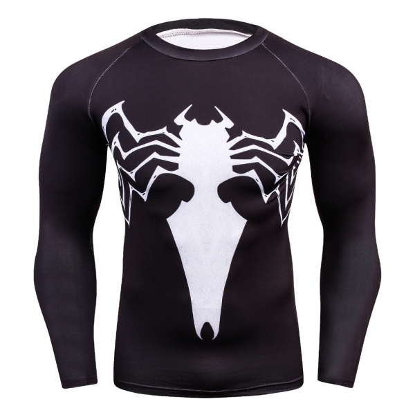 Compression shirt, men's health 3 d printing spiderman T-shirt raglan long-sleeved clothes heat joined more than 2018  men