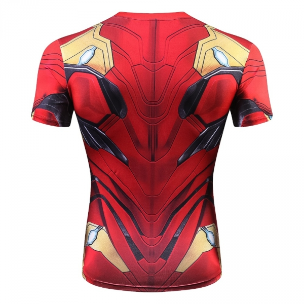 Raglan Sleeve Compression Shirts Avengers 3 Iron Man 3D Printed T shirts Men 2018 Summer NEW Crossfit Top For Male Fitness Cloth 2