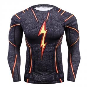 Buy Long sleeve rash guard: Flash DC Dark 2018 Costume Workout Raglan merchandise collectibles