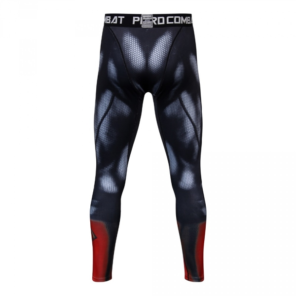Superman 3D Printed Pattern Compression Tights Pants Men Superhero Tight Sweatpants Fitness Skinny Leggings Trousers Male Cloth 3