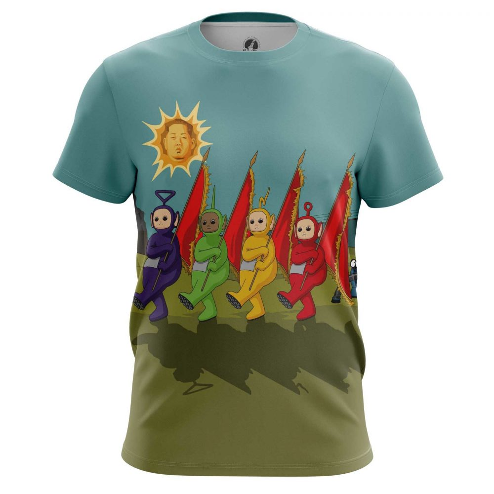 Buy Mens T shirt Sun Teletubbies Kim Jong Un North Korea merchandise collectibles