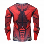 2018 Flash 3D Printed Compression Shirt T-Shirts Print Fitness Top Red Flash Cosplay Costume Fitness Movement Clothing Male Tops 1