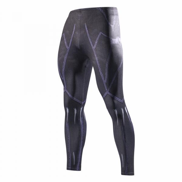 2018 Latest black panth Men Skinny Pants 3D Pattern Black Panther Bodybuilding Jogger Fitness Skinny Compression tights 2