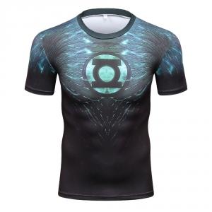 2018 New Green Lantern Superhero Iron Man T Shirts Compression Shirt 3D Short Sleeve T Shirt Fitness Men Brand t shirts