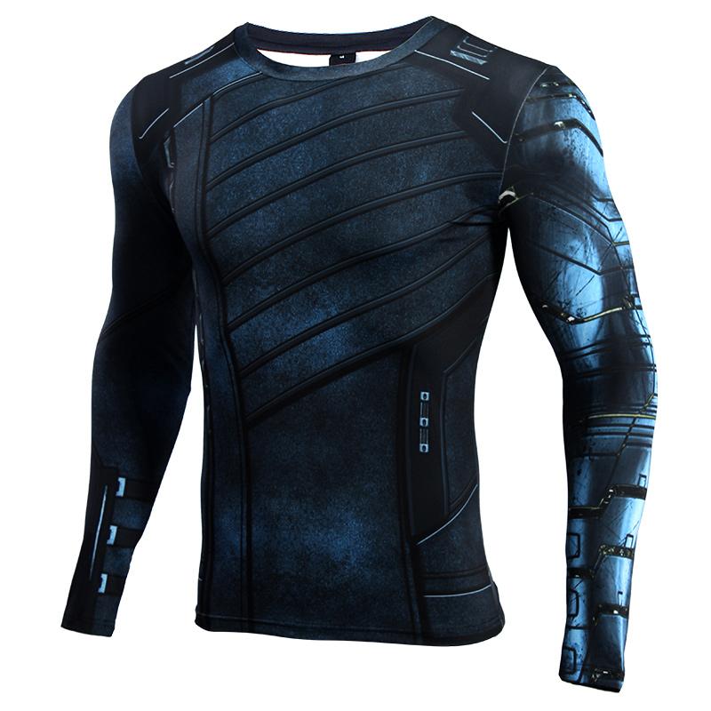 Buy Rash guard: Bucky Barnes Compression Gear Winter Soldier Infinity war 2018 merchandise collectibles