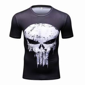 Short Sleeve 3D T Shirt Male Crossfit Tee Captain America Superman tshirt Men Fitness Compression Shirt Punisher MMA2018