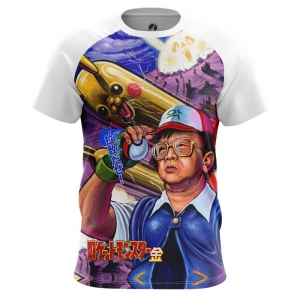 Buy Mens T shirt kim jong il Pokemon Anime North Korea merchandise collectibles