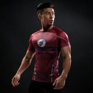 2018Compression Shirt Batman VS Superman 3D Printed T-shirts Men Raglan Short Sleeve Superhero Compression Shirt Fitness Tops