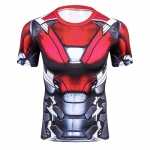 2018 Cool Ironman Advanced 3D Male Print Compression Shirt Slim Fit Skins Tight Men'S Bodybuilding Crossfit Champion Shirt