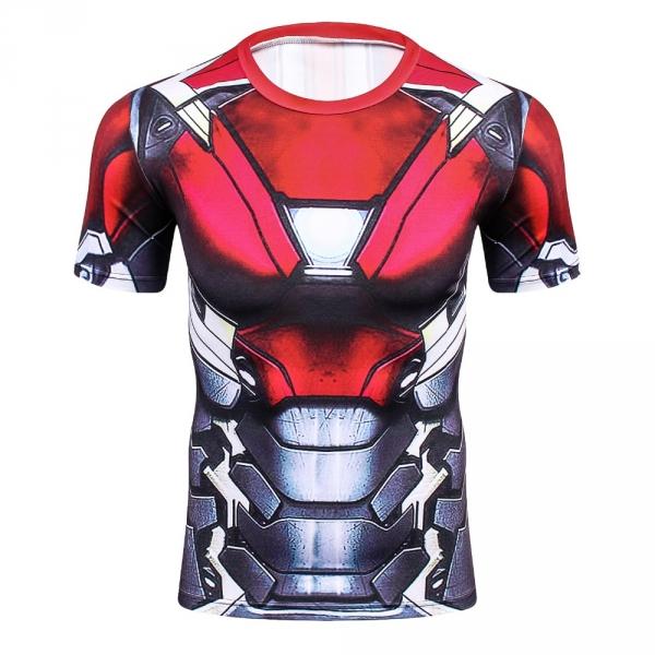 2018 Cool Ironman Advanced 3D Male Print Compression Shirt Slim Fit Skins Tight Men's Bodybuilding Crossfit Champion Shirt