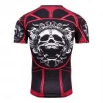 2018 Fitness Mma Compression Shirt Men Anime Bodybuilding Short Cool Skull Punisher 3D Printed T Shirt Youth High Elastic T-Shir 2