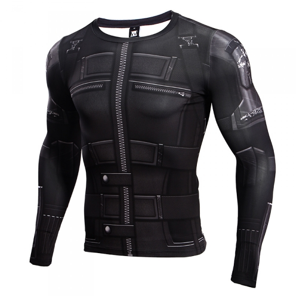 Tshirt Women Black Widow 3D Printed Compression Shirt Avengers 3 Long Sleeve Crossfit Top Female 2018 Cosplay Costume For Lady 1