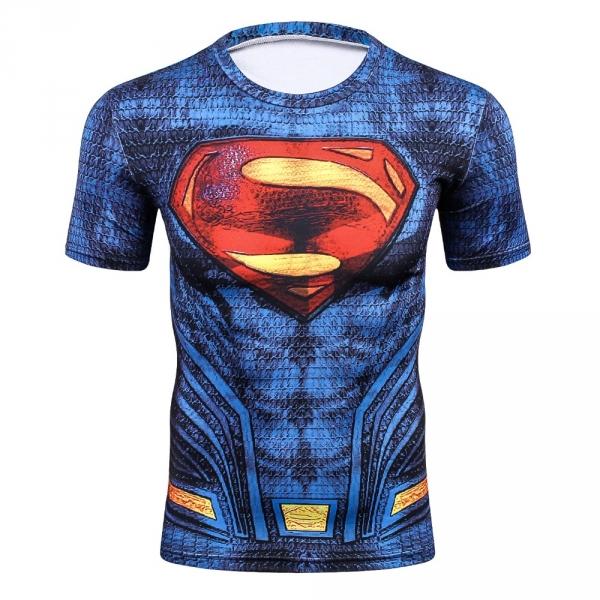 c33f01a82f8a4a 2018 New Hot Sale Slim Fit Marvel Captain Superman batman spiderman Print 3D  Compression T shirt
