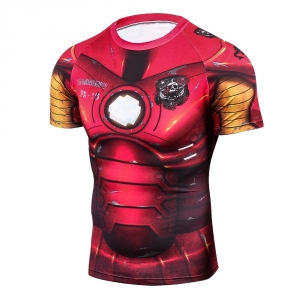 Iron man 3D Printed T shirts Men Compression Shirt New Spiderman Cosplay Short Sleeve Crossfit Tops For Male Fitness Clothes 1