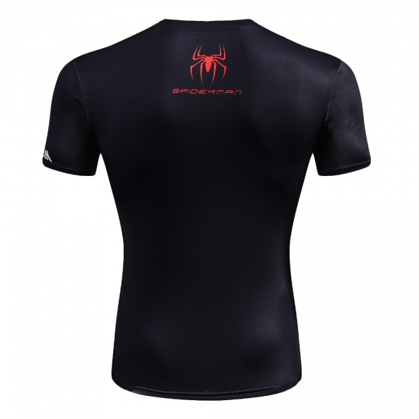 New Arrival Men Fitness 3D T-Shirt Spiderman Print Bodybuilding Crossfit T-Shirts Quick Dry Compression Shirts Brand Clothing 1