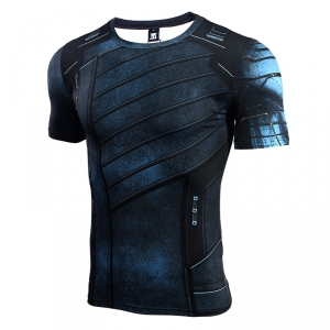 Avengers 3 Winter Soldier 3D Printed T shirts Men Compression Shirt 2018 Cosplay Costume Short Sleeve Crossfit Tops For Male 1