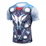 Thor 3D Printed T Shirts Men Compression Shirt New Cosplay Short Sleeve Male Crossfit Fitness Bodybuilding Man Base Tops Tee 1