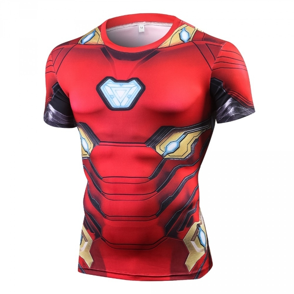 Raglan Sleeve Compression Shirts Avengers 3 Iron Man 3D Printed T shirts Men 2018 Summer NEW Crossfit Top For Male Fitness Cloth 1