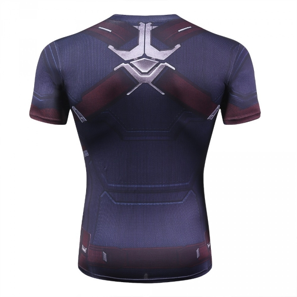 Captain America Men's Fitness T-shirt Marvel Heroes Replica 3 Clothes 2018 Cosplay Short Sleeve Crossfit Tops For Male Fit Cloth 2