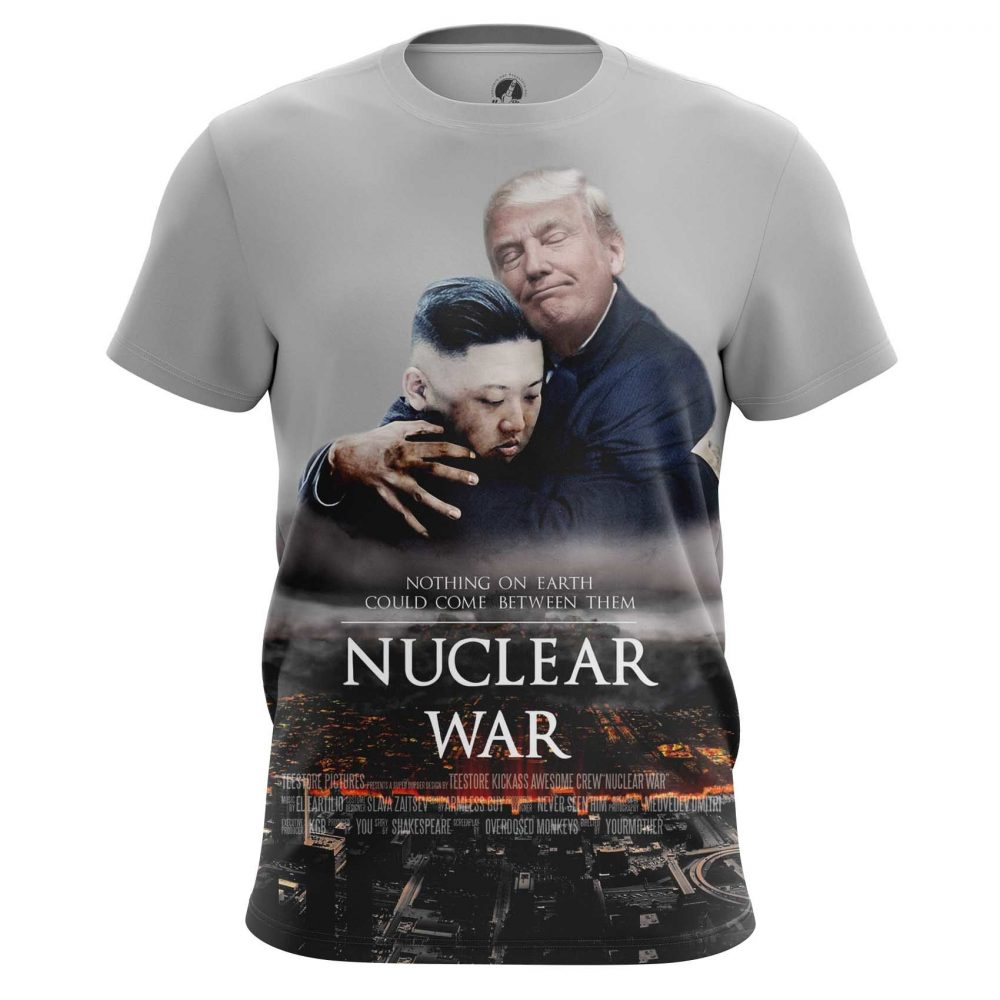 Buy Mens T shirt Nuclear War Trump Kim Jong Un North Korea merchandise collectibles