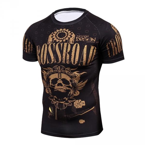 2018 Fitness MMA Compression Shirt Men Anime Bodybuilding Short Cool skull punisher 3D Printed T shirt Youth High elastic T-shir 4