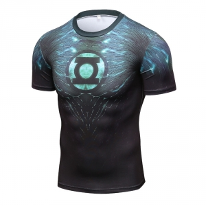 2018 New Green Lantern Superhero Iron Man T Shirts Compression Shirt 3D Short Sleeve T Shirt Fitness Men Brand t shirts 1