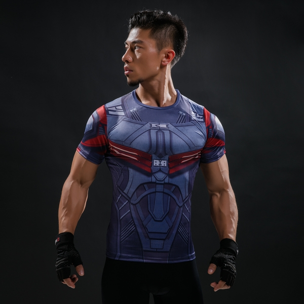 Buy T shirt Rash guard Mens: batman Classic Workout Gear for GYM Merchandise collectibles