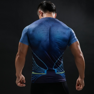 Batman VS Superman T Shirt Tee 3D Printed T-shirts Men Short Raglan sleeve Fitness Cosplay Costume Slim Fit Compression Top Mal 1