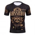 2018 Fitness Mma Compression Shirt Men Anime Bodybuilding Short Cool Skull Punisher 3D Printed T Shirt Youth High Elastic T-Shir 3