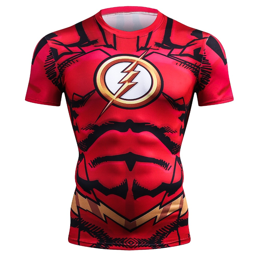 Buy T shirt Rash guard Mens: Flash Workout Gear for GYM Compression merchandise collectibles