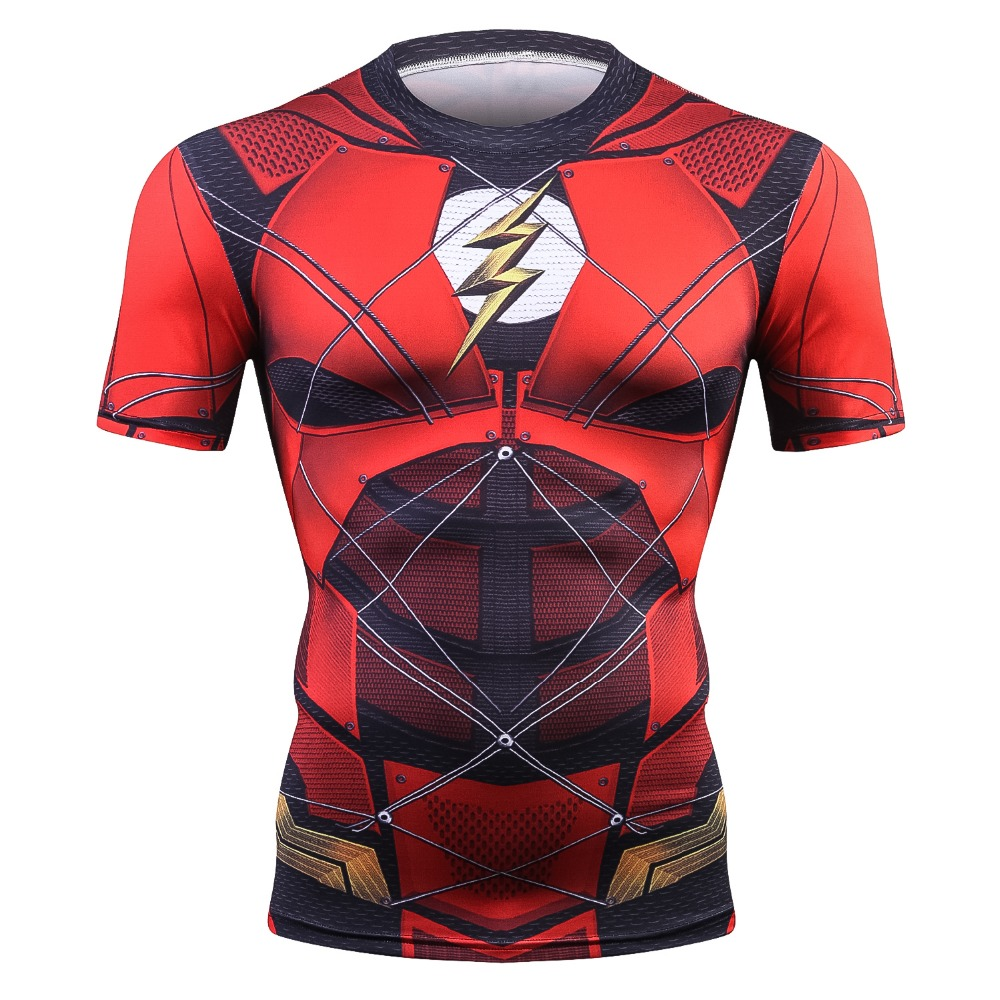 Flash Tshirts Men Compression Shirts Tops The Flash T-shirts Fitness Crossfit Tees Bodybuilding camiseta rashguard 2018