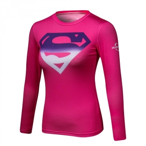 superman 3 d printed t-shirts women compression ladies long sleeve shirt Cosplay costume fitness shirt for w2018 1