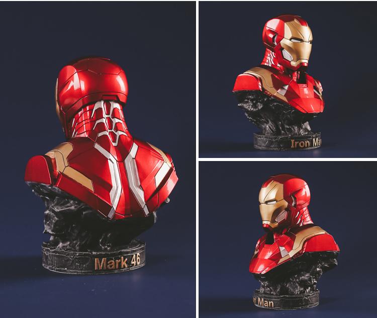 Collectibles Bust Iron Man Tony Stark Figure Marvel Figures 17Cm