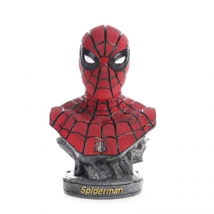Buy Bust Figurine Spider man Peter Parker Figure Marvel Figures 17cm merchandise collectibles