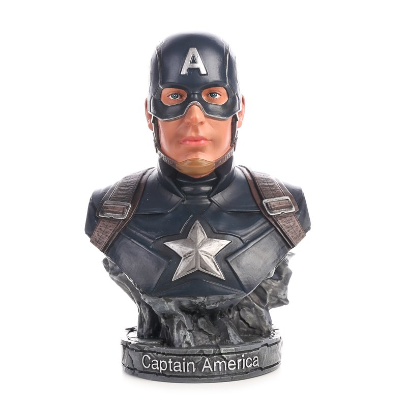 Buy Bust Figurine Captain America Avengers Figure Marvel Figures 17cm Merchandise collectibles