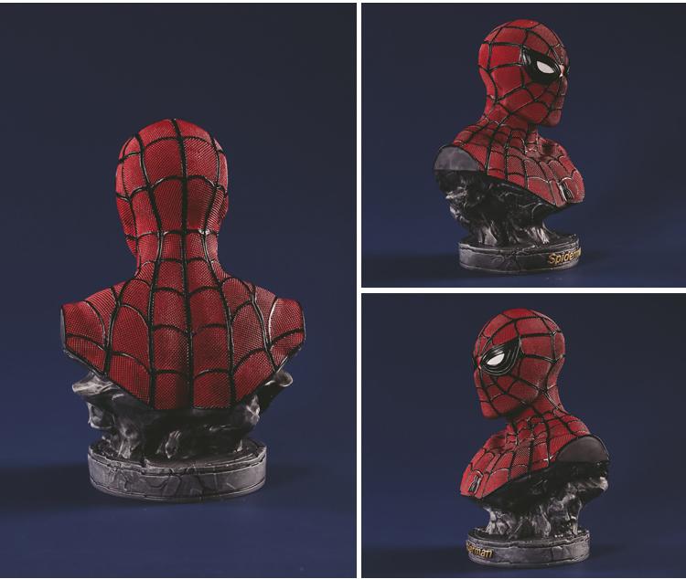 Collectibles Bust Spider-Man Peter Parker Figure Marvel Figures 17Cm