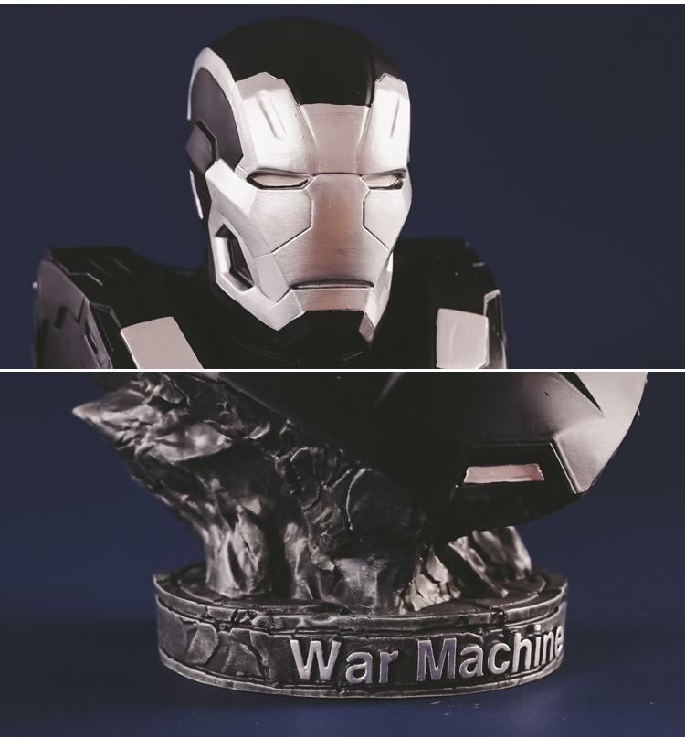 Collectibles Bust Iron Patriot Figure Marvel Figures Sculpture 17Cm