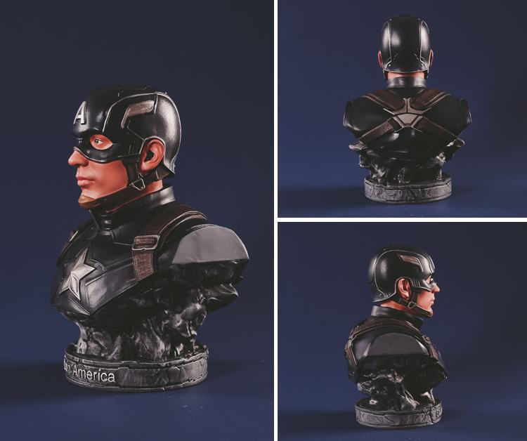 Collectibles Bust Captain America Avengers Figure Marvel Figures 17Cm