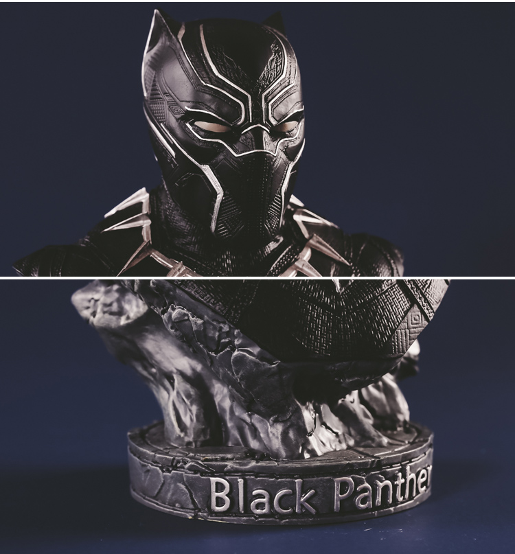 Collectibles Bust Black Panther T'Challa Figure Marvel Figures 17Cm