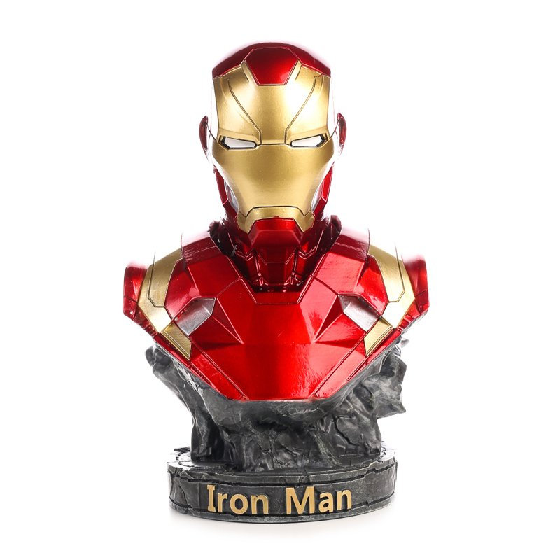 Buy Bust Figurine Iron Man Tony Stark Figure Marvel Figures 17cm Merchandise collectibles