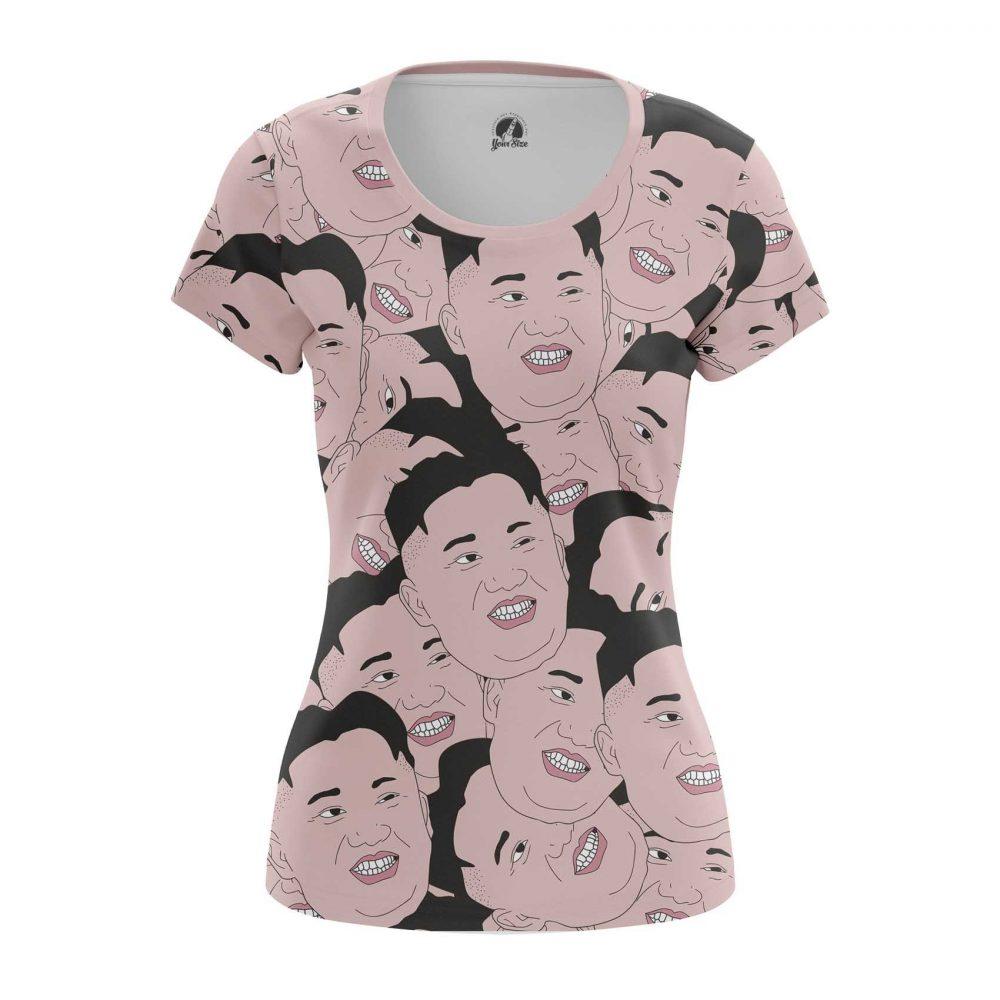 Buy Womens T shirt Kim Jong Un North Korea Faces merchandise collectibles