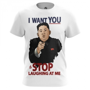 Buy Mens T shirt Stop Laughing Kim Jong Un North Korea merchandise collectibles