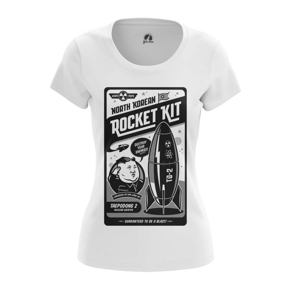 Buy Womens T shirt Nuclear Kit Kim Jong Un North Korea merchandise collectibles