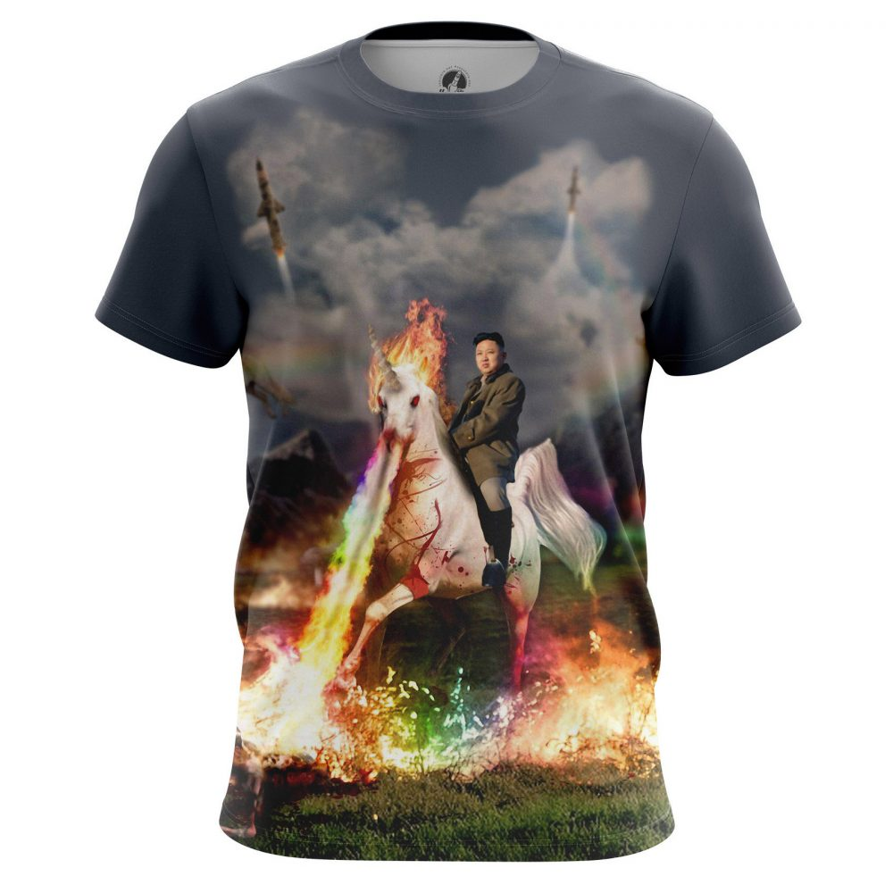 Buy Mens T shirt Unicorn Kim Jong Un North Korea merchandise collectibles