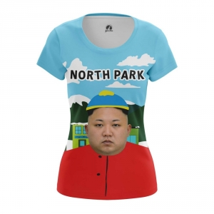 Buy Womens T shirt Cartman Kim Jong Un Crossover merchandise collectibles