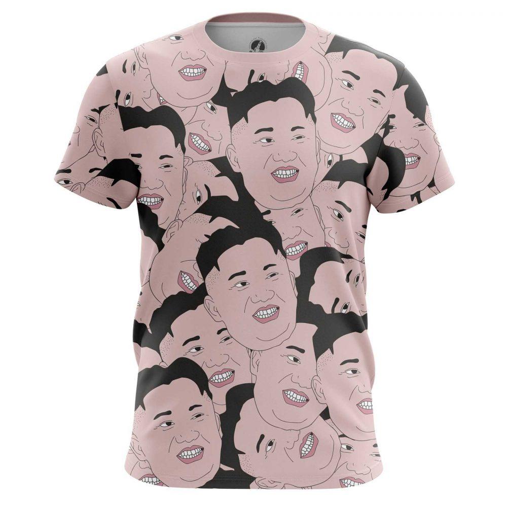 Buy Mens T shirt Kim Jong Un North Korea Kims Faces merchandise collectibles
