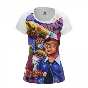 Buy Womens T shirt kim jong il Pokemon North Korea merchandise collectibles